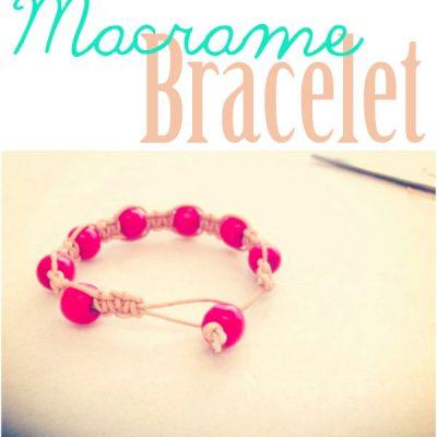 DIY// Macrame Knot Bracelet