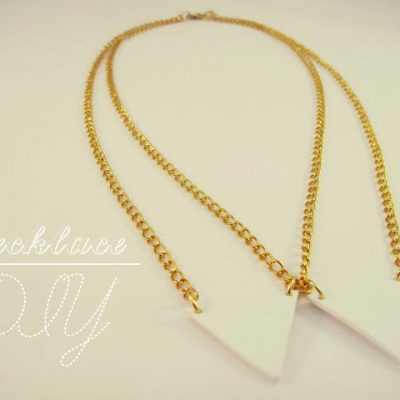 DIY Collar Tips Necklace