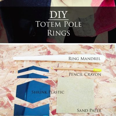 DIY// Totem Pole Shrink Plastic Rings