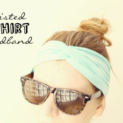 DIY Twisted Tshirt Headband