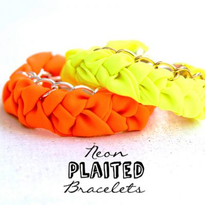 DIY Neon Plaited Bracelet
