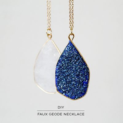 DIY Faux Geode Necklace