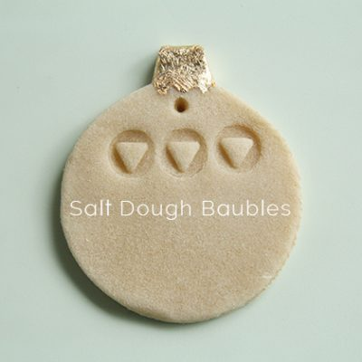 DIY Salt Dough Baubles