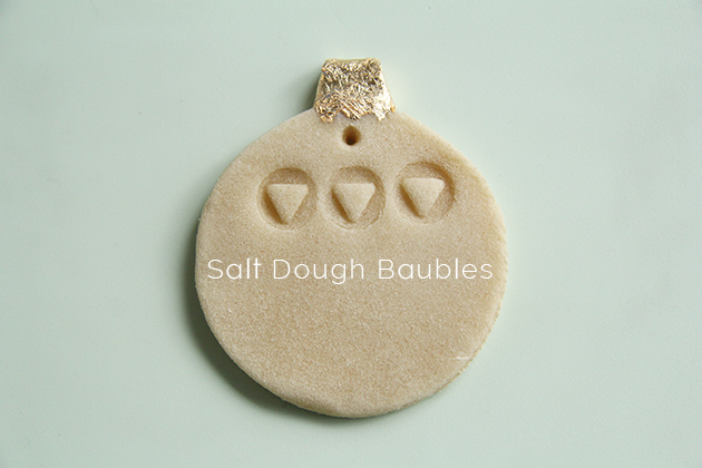 Salt Dough Bauble DIY