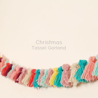 DIY Christmas Alternative Tassel Garland