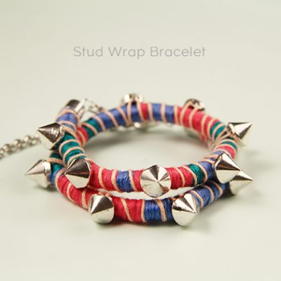 DIY// Stud Wrap Bracelet