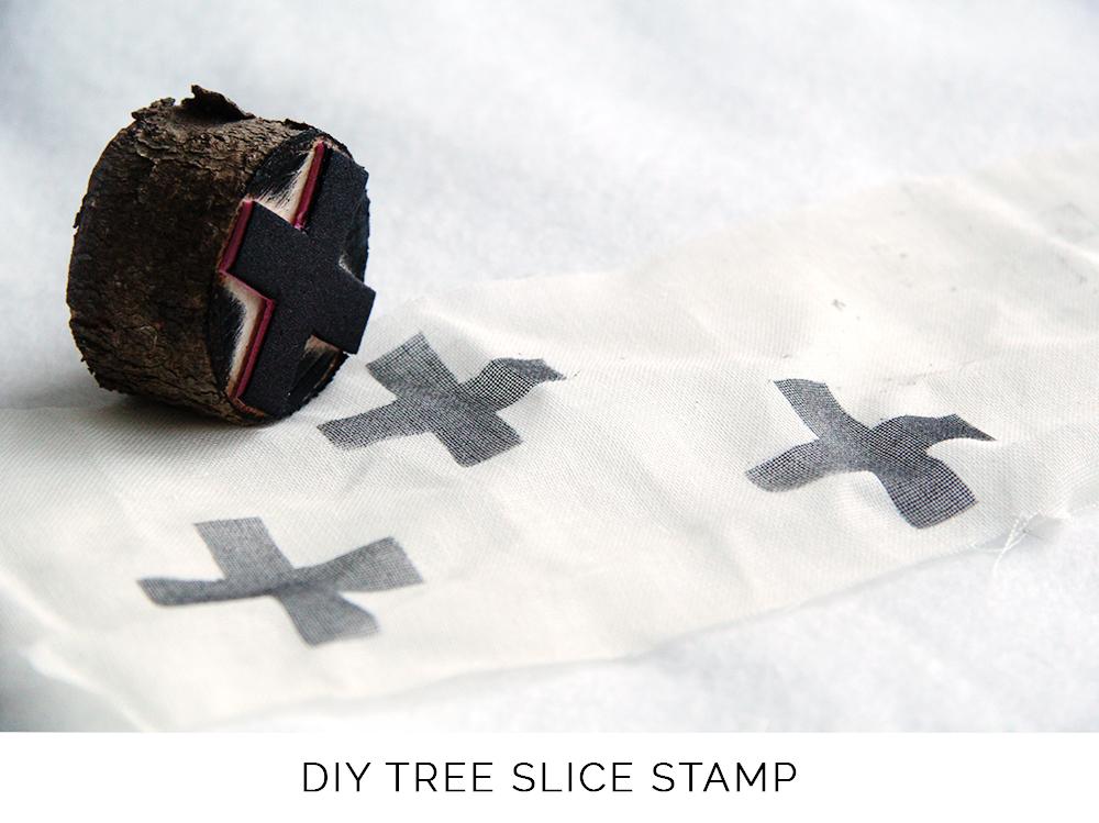 DIY Wood Slice Stamp Fall For DIY