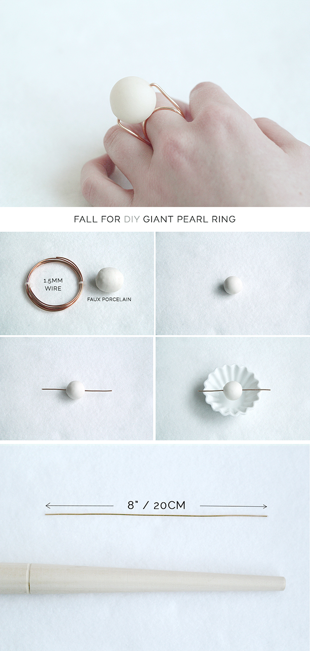 Fall For DIY | Giant Pearl Ring | Fall For DIY
