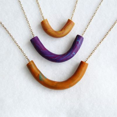 DIY Marble Tube Necklace