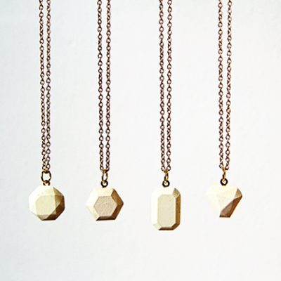 DIY Dyed Concrete Pendant Necklaces