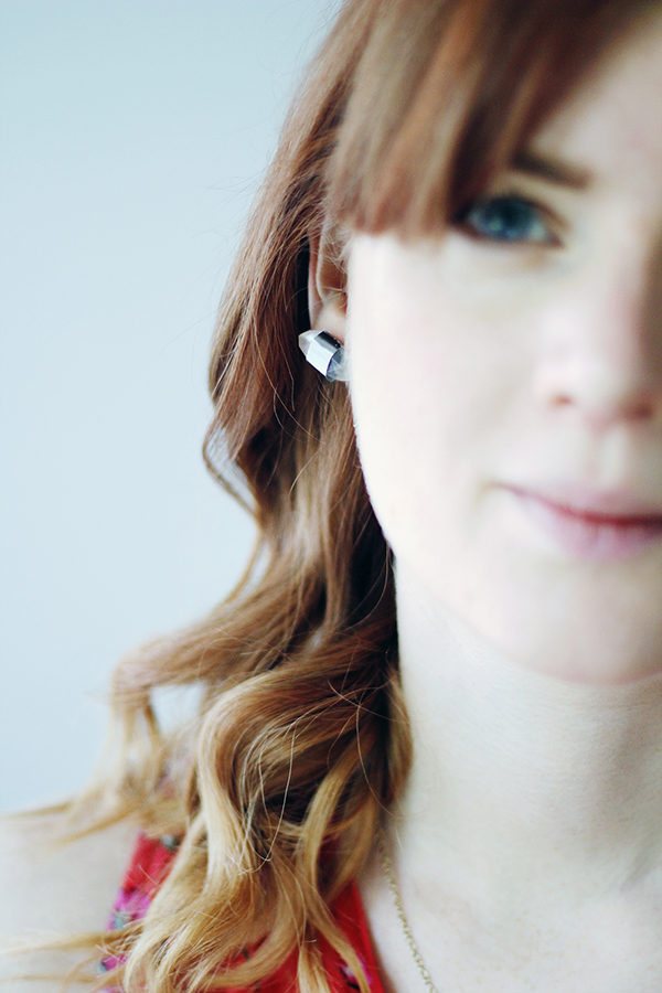 silver and resin earrings Fall For DIY tutorial for Oh the Lovely Things