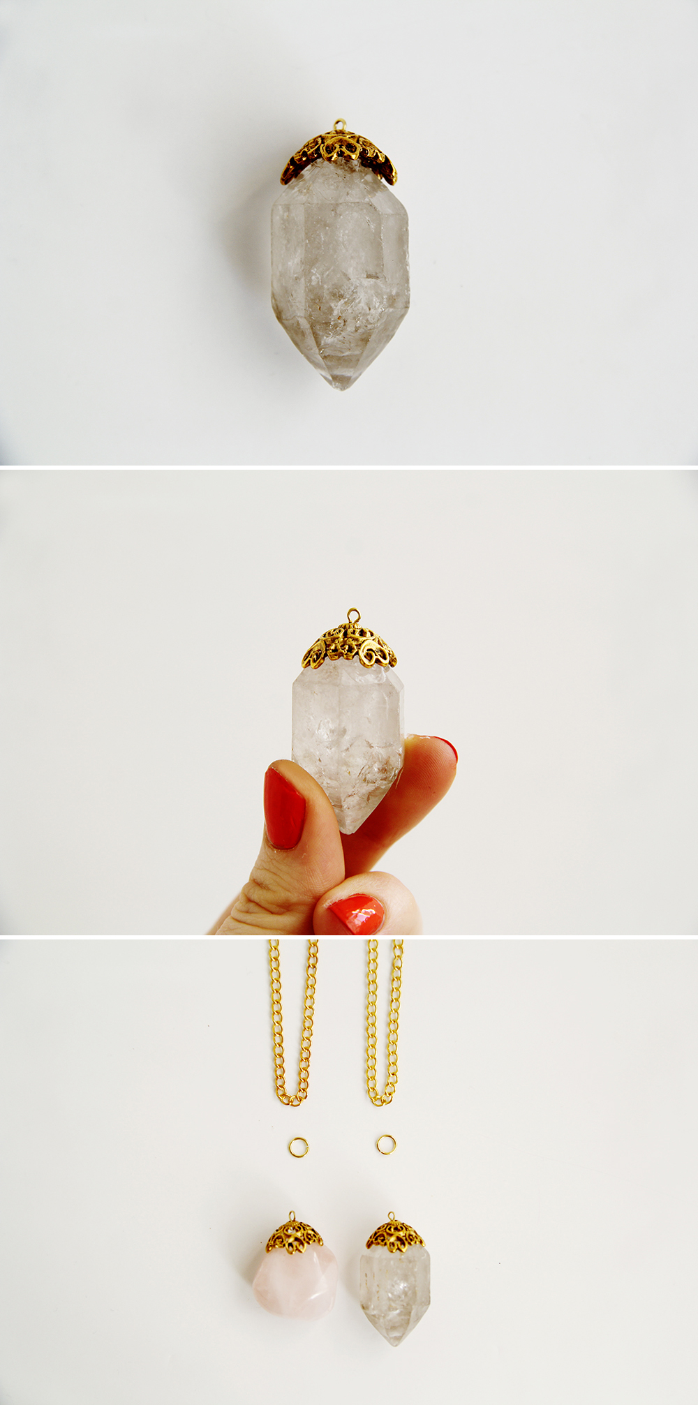 Fall For DIY Decadent Crystal Necklace tutorial