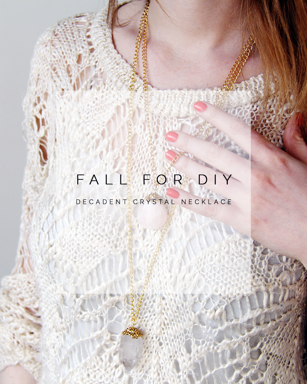 Fall For DIY Decadent Crystal Necklaces