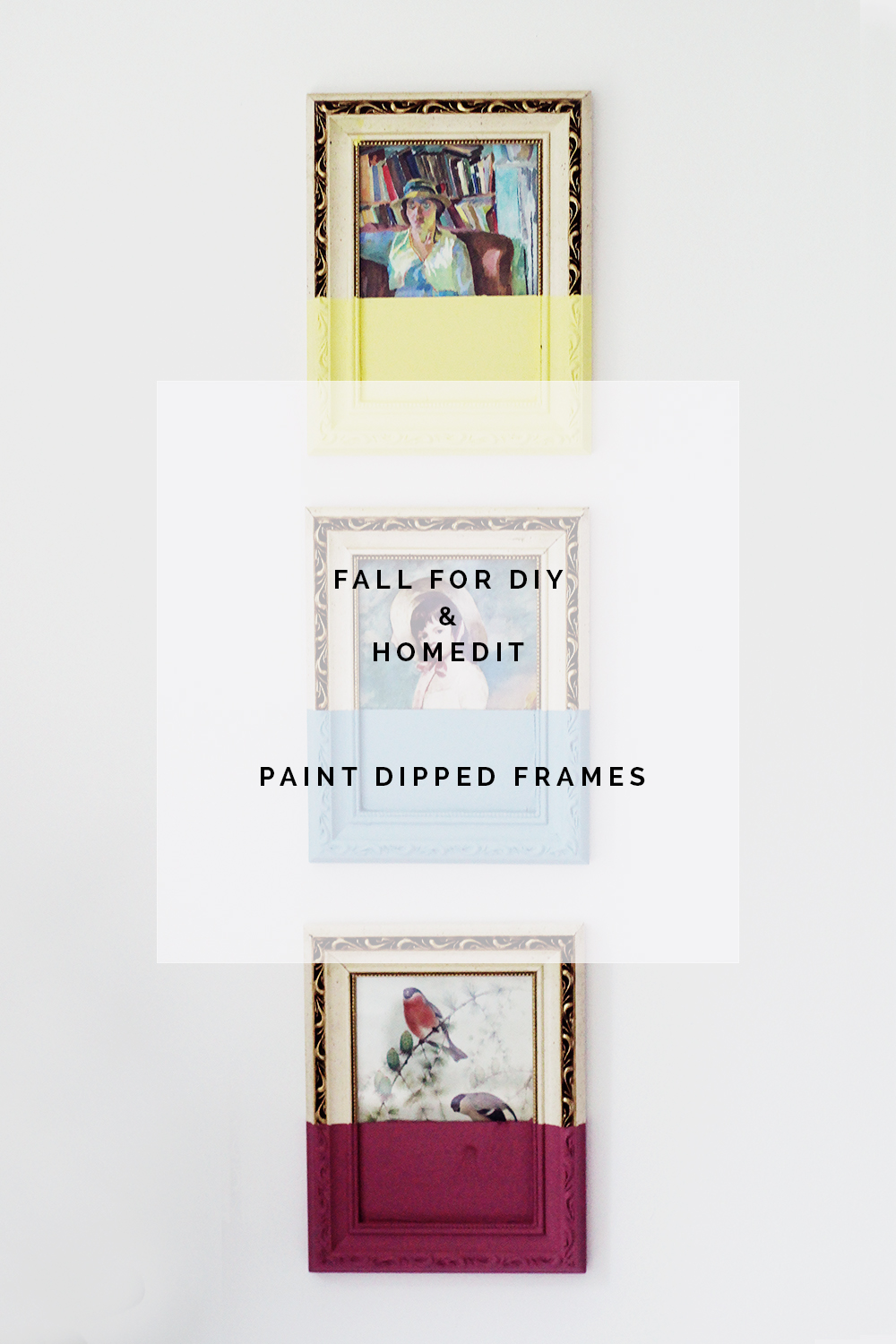 Fall For DIY Paint Dipped Picture Frames
