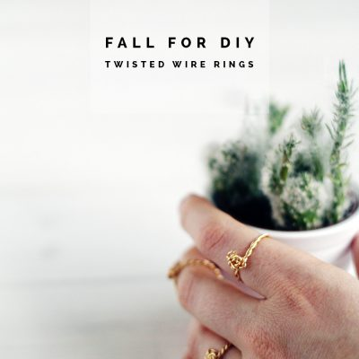 DIY Twist & Knot Wire Rings