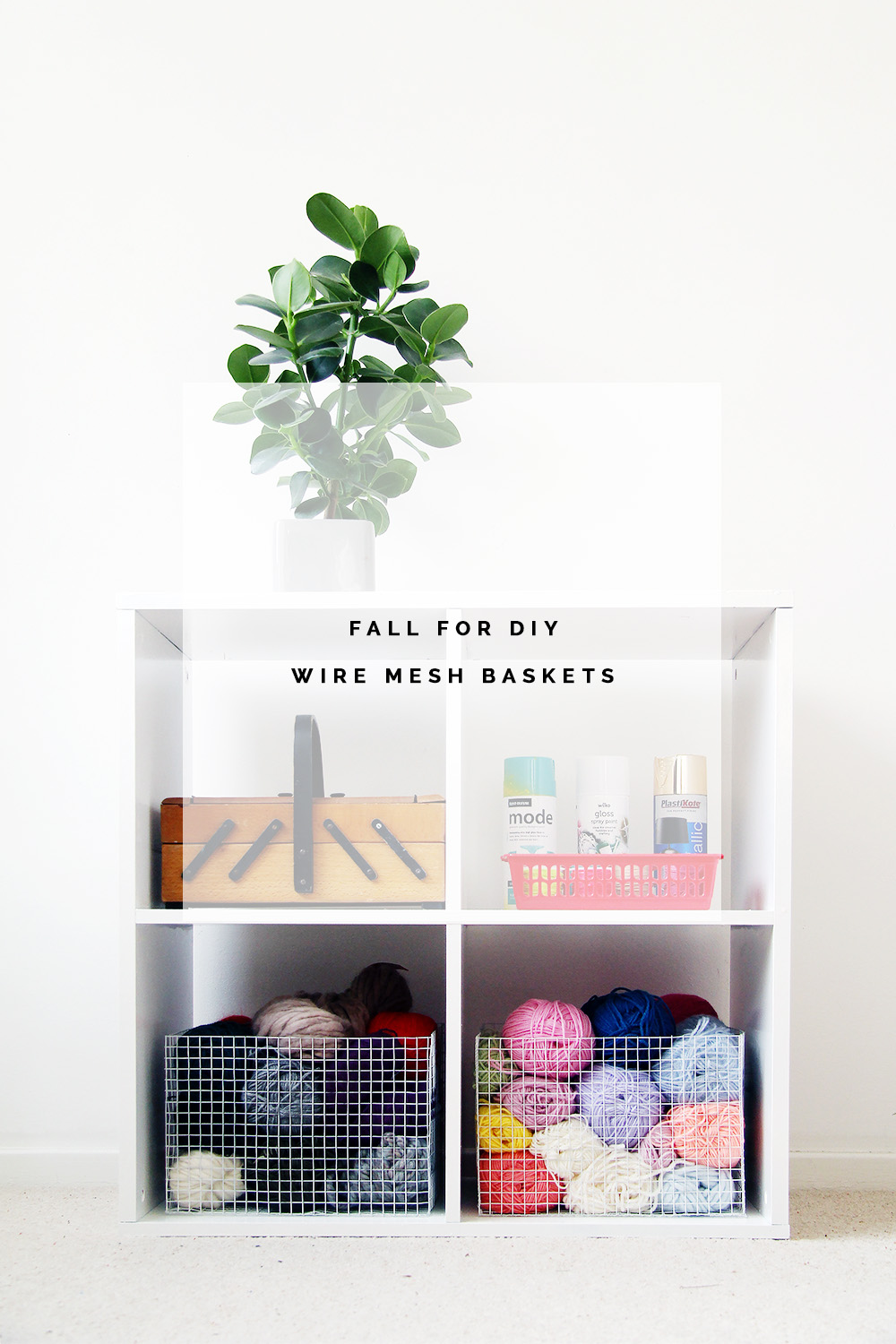 Fall For DIY Wire Mesh Baskets Tutorial