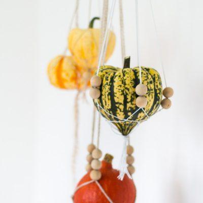 DIY Macrame Hanging… Pumpkins (& Squash)