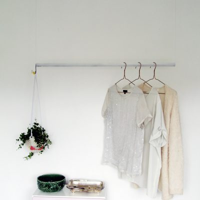 DIY Hanging Wardrobe Rail
