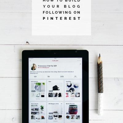 How to Build your Blog Following on Pinterest