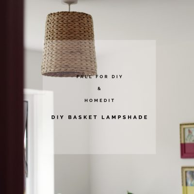 All in the Details | DIY Waste Basket Lampshade