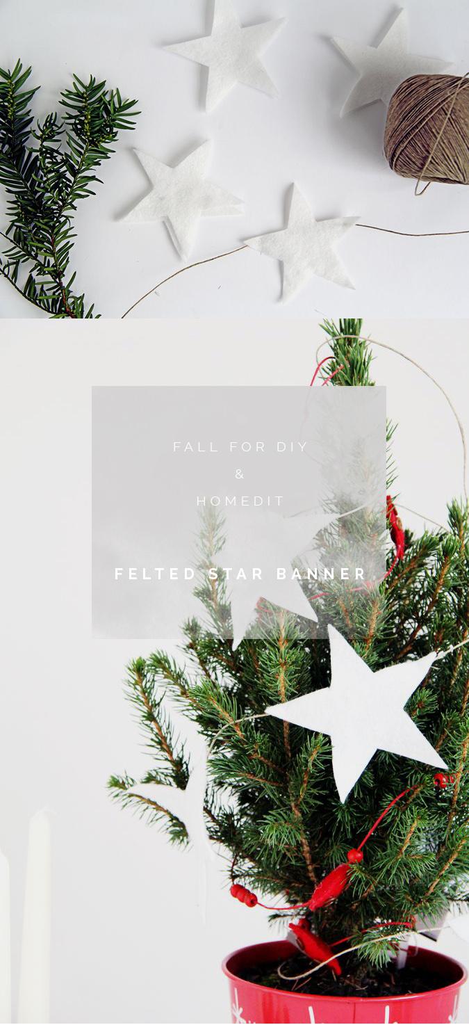 Fall For DIY & Homedit Felted Star Banner tutorial