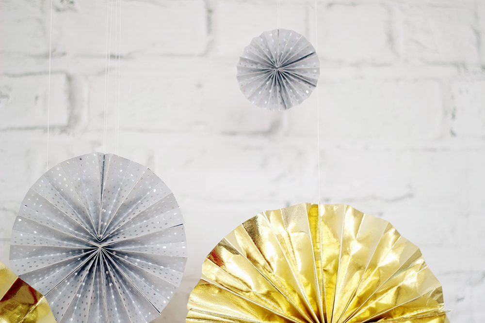 Fall For DIY New Years Eve Paper Fans Tutorial