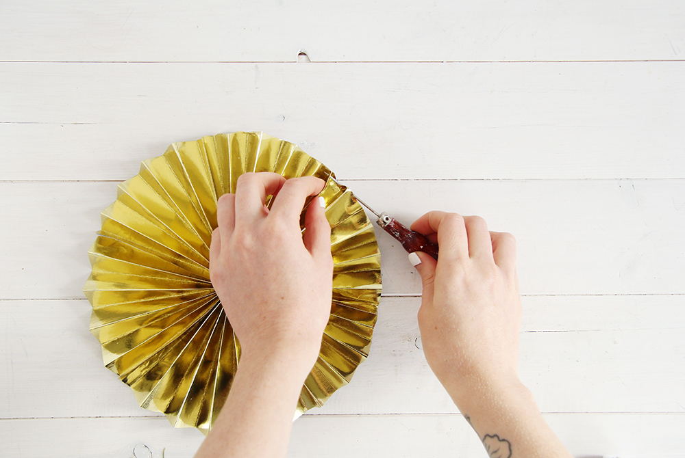 Fall For DIY Paper Fans Tutorial 10