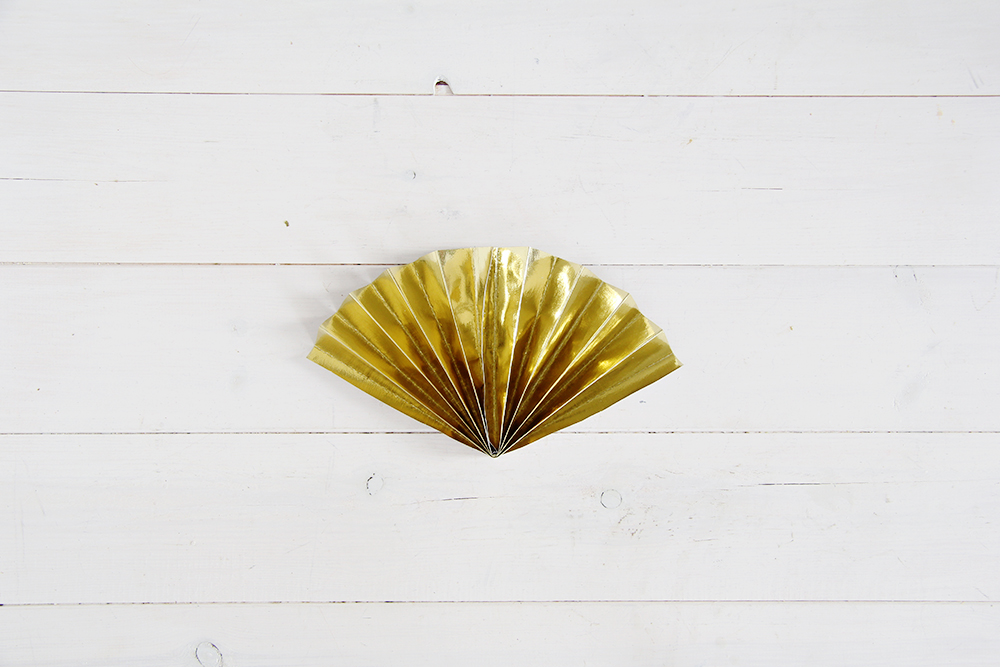 Fall For DIY Paper Fans Tutorial 7
