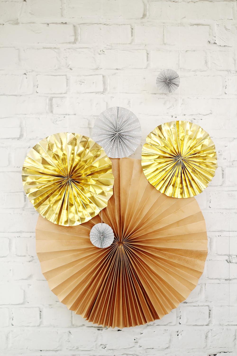 Fall For DIY Paper Fans Tutorial New Years Eve