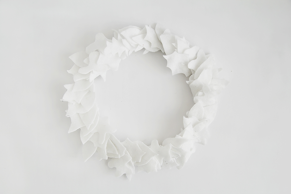 Fall For DIY White Felt Wreath full wreath