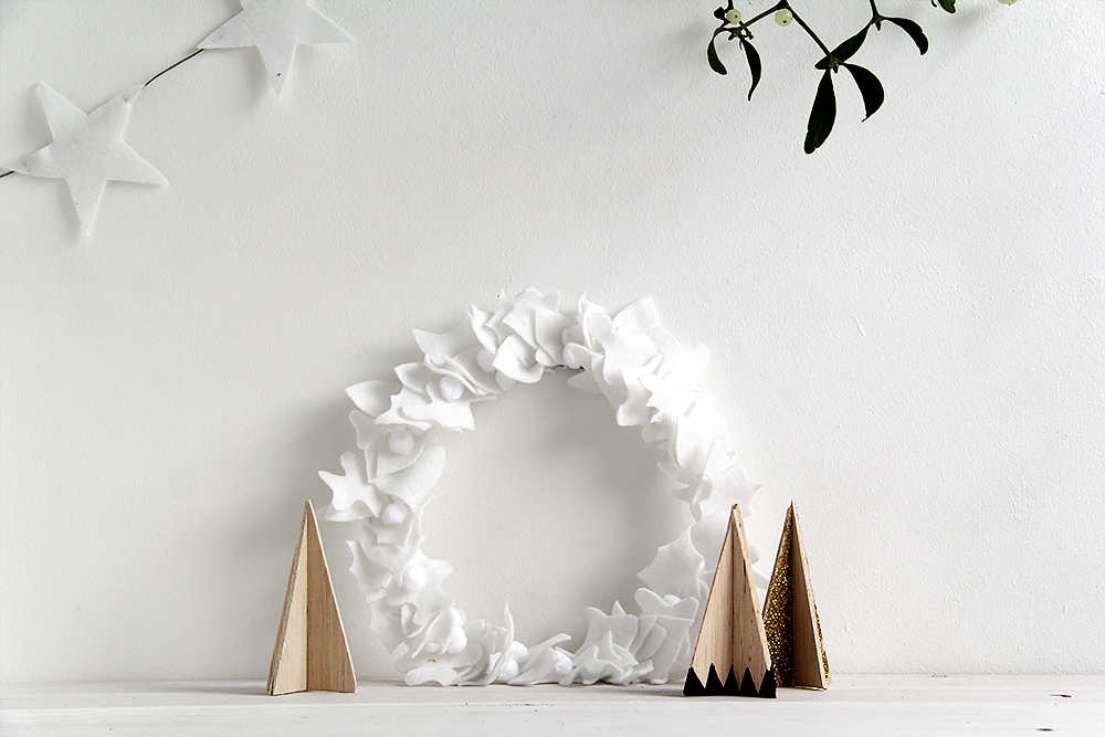 Fall For DIY White Felt Wreath landscape