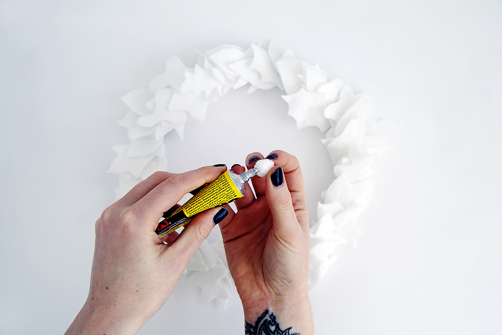 Fall For DIY White Felt Wreath poms
