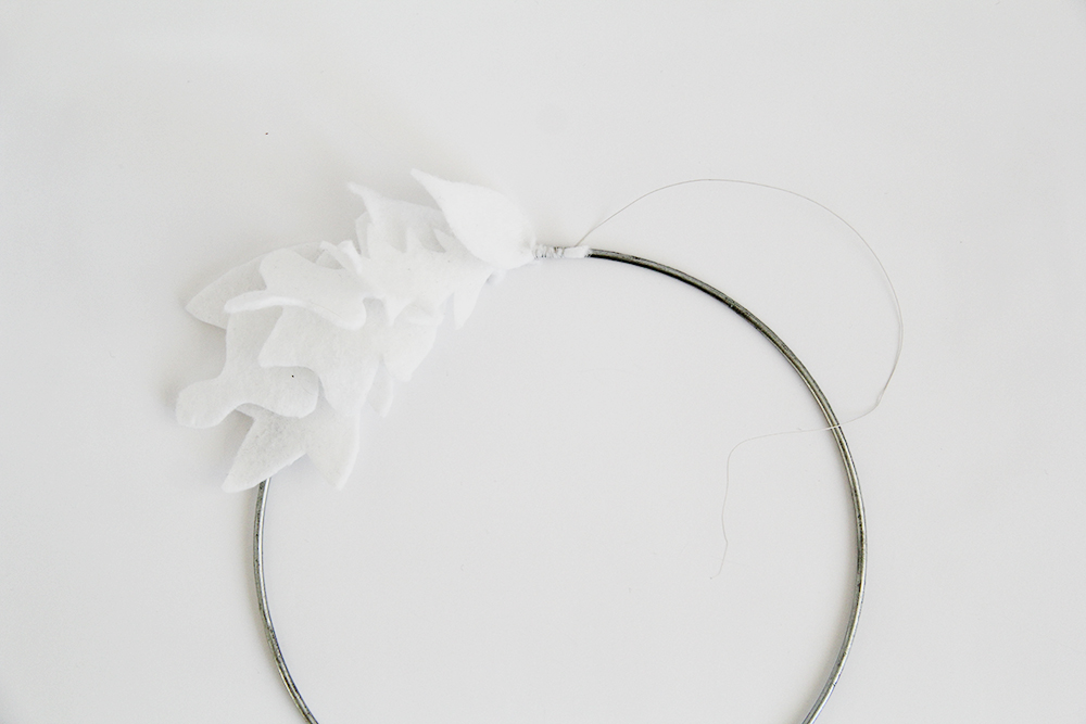 Fall For DIY White Felt Wreath quarter