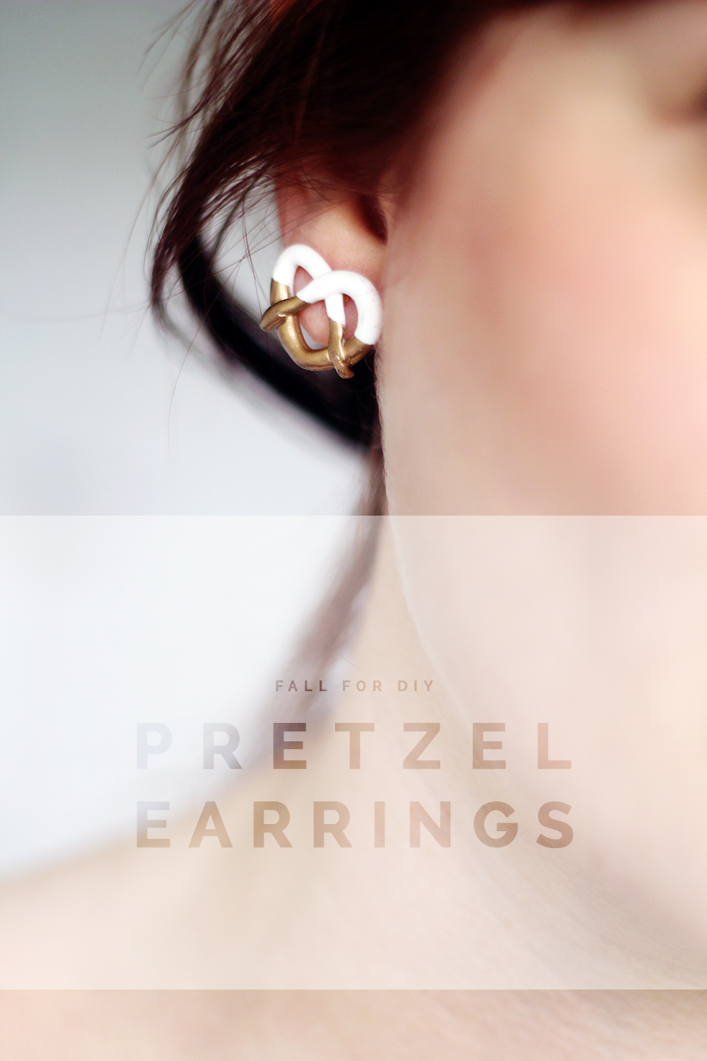 Fall For DIY and Brit+co Mark Jacobs Inspired Pretzel earrings