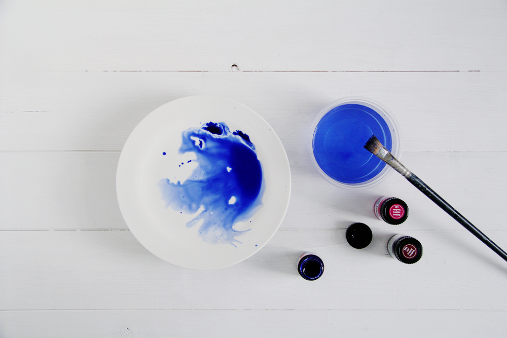 Diy watercolour tableware fall for diy for Diy ceramic plates