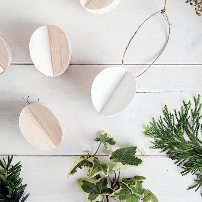DIY Balsa Wood Baubles