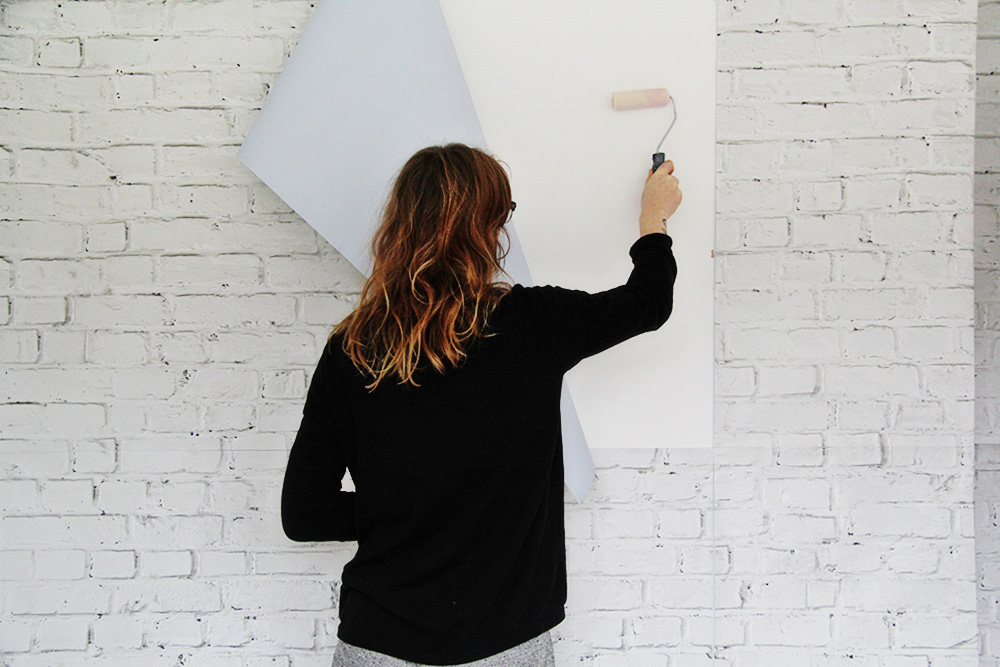 Diy White Brick Wall For Renters Fall For Diy