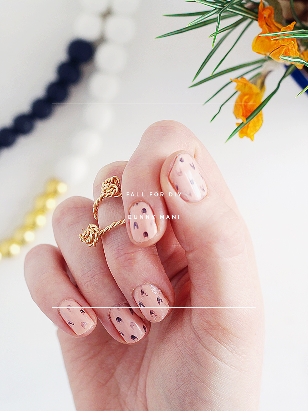 Fall For DIY Bunny Mani