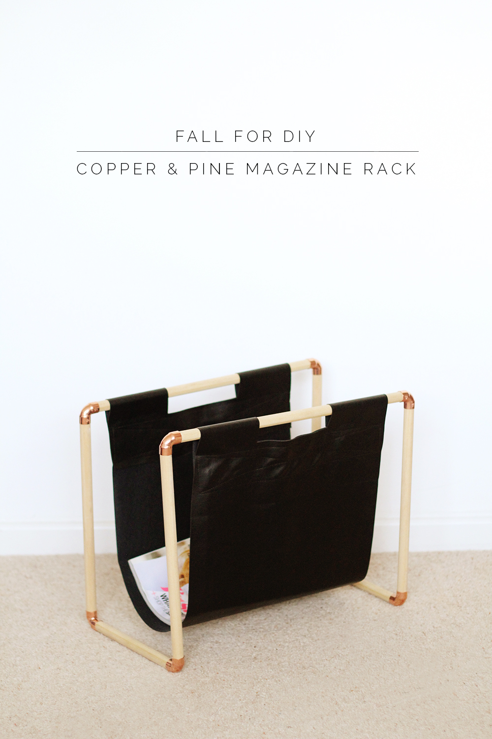 diy copper pine magazine rack fall for diy