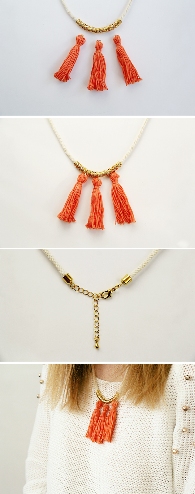 diy ring and tassel necklace | fall for diy