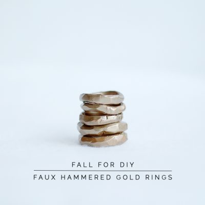 DIY Faux Hammered Gold Rings