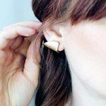 DIY Faux Gold Cuff Earrings