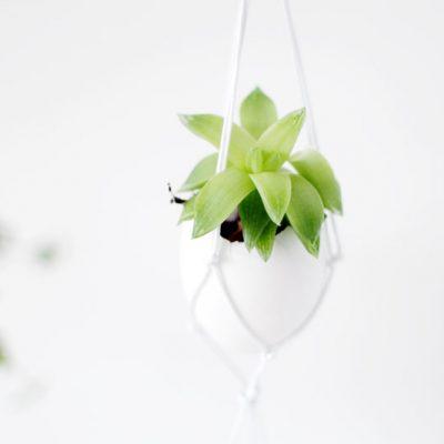 DIY Hanging Easter Egg Planter
