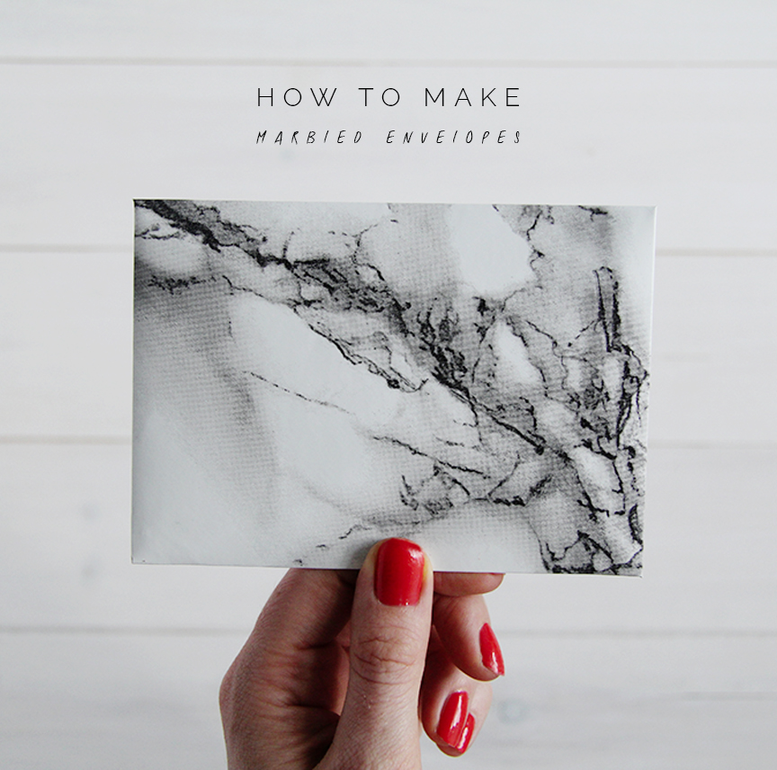 How to Make Marbled Contact Paper Envelopes Fall For DIY