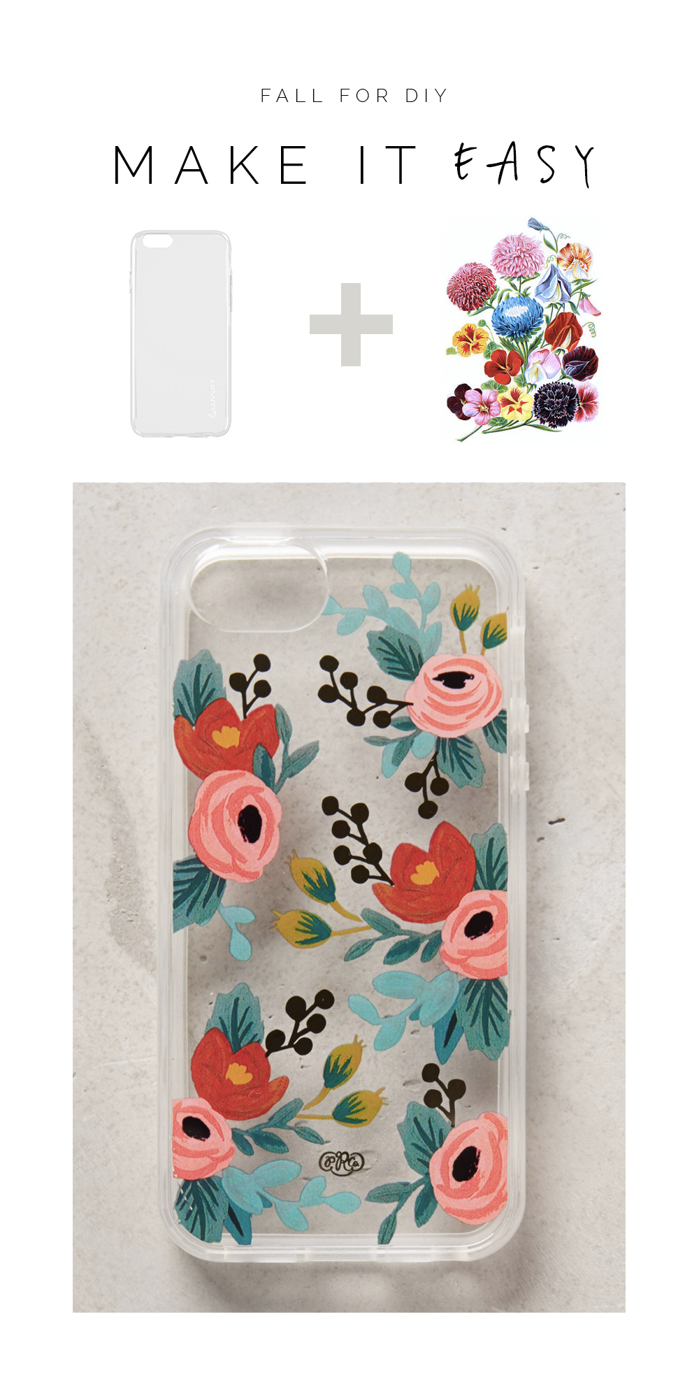 Make it easy floral tattoo phone case for christmas for How to make a homemade phone case
