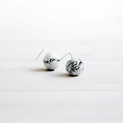 DIY Marbled Earring Backs