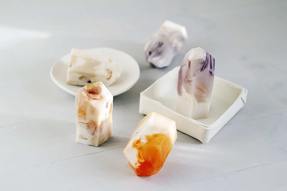 Fall For DIY Semi Precious Stone Soap 10