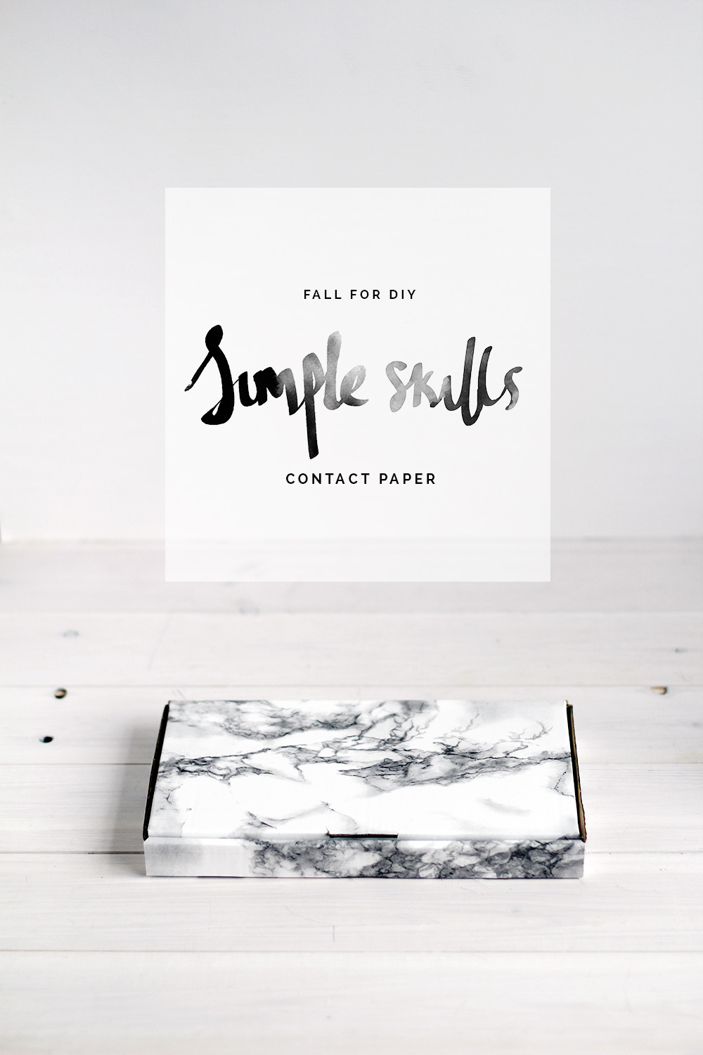 Simple Skills | Contact Paper Packaging | Fall For DIY