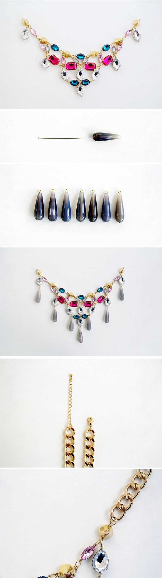 DIY The Ultimate Statement Gemstone Necklace | Fall For DIY