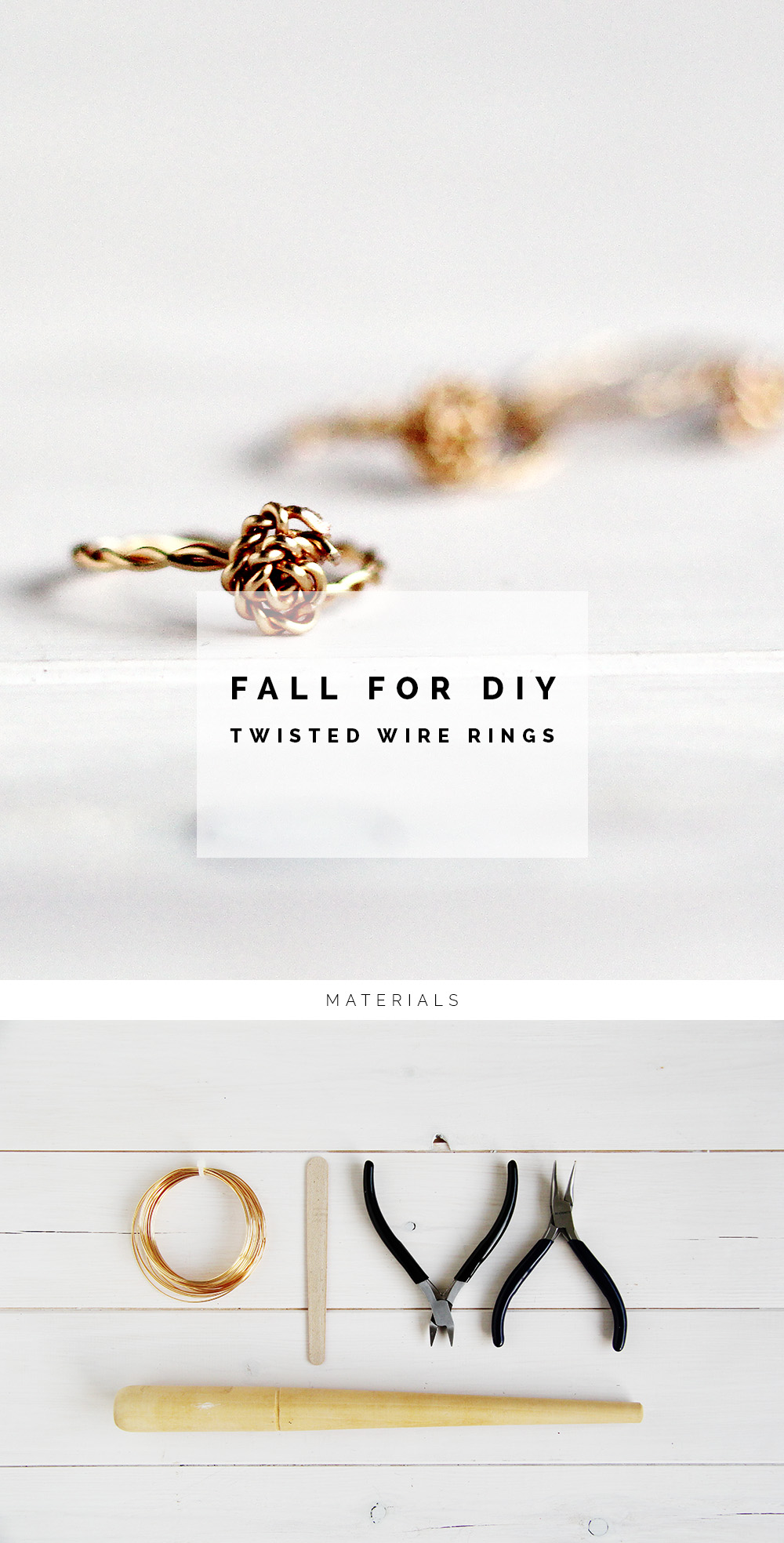 DIY Twisted Rings